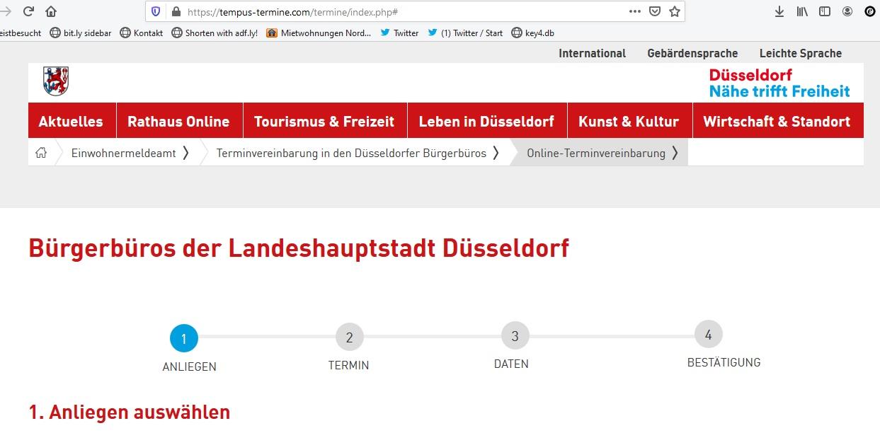 bürgerbüro düsseldorf personalausweis