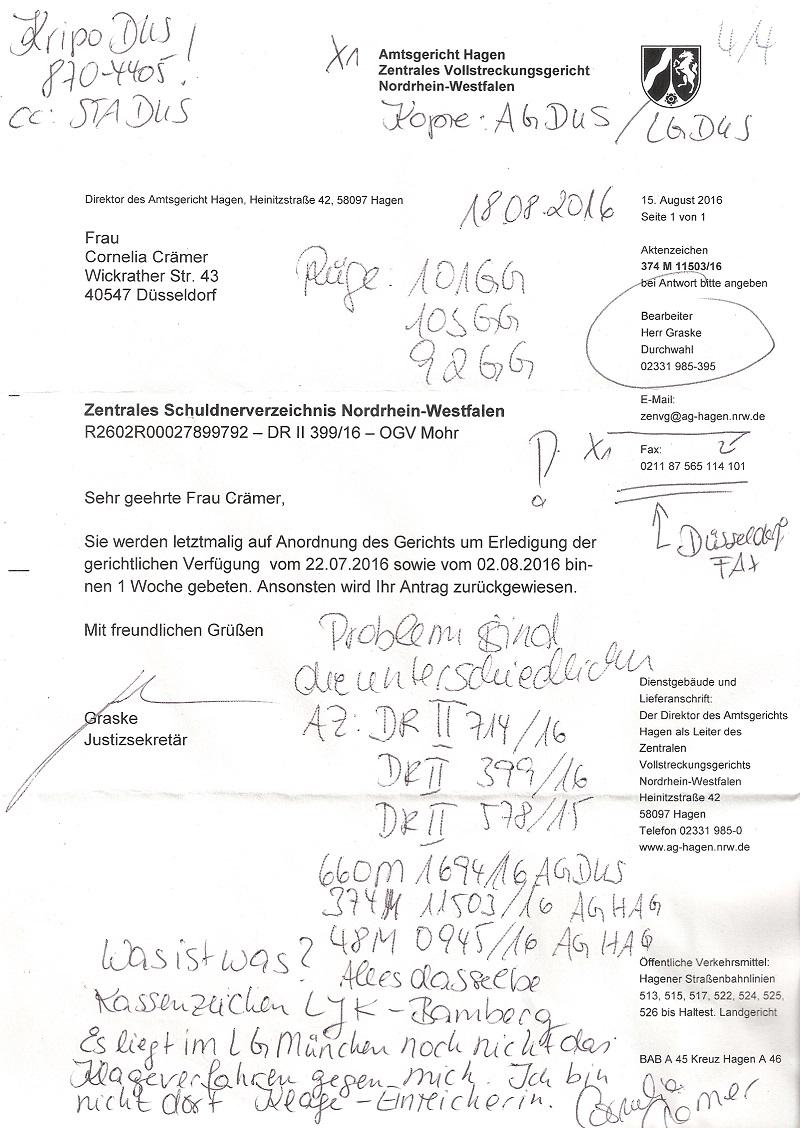 kopien kostenfestsetzungsbeschluss nachweis