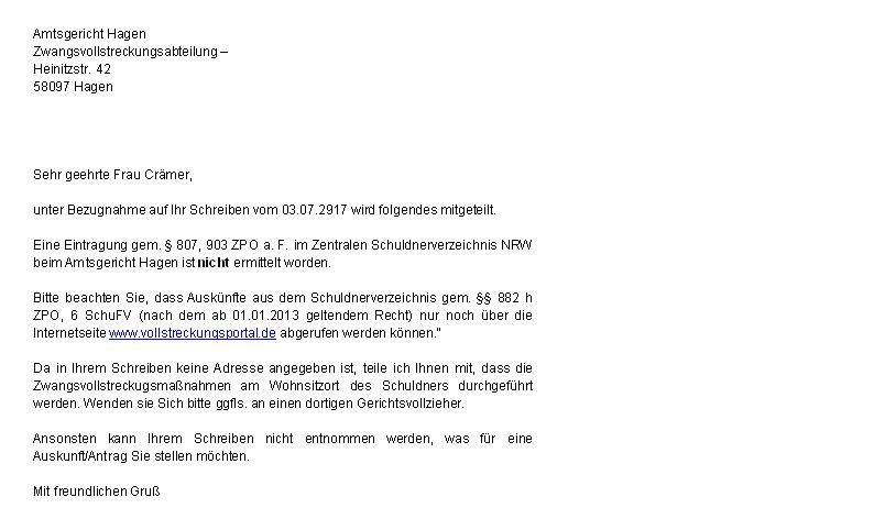 Print Article Update10 Schuldnerverzeichnis