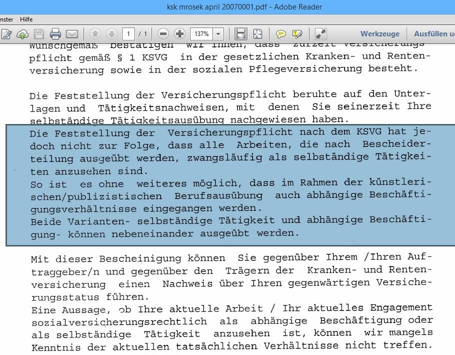 Update19 Kuenstlersozialkasse Versicherte Bundesbeamte Bgbl